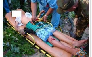 Оказание первой доврачебной помощи при переломе позвоночника